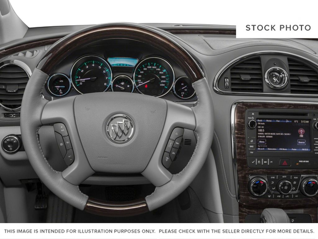 Silver 2017 Buick Enclave Steering Wheel and Dash Photo in Medicine Hat AB