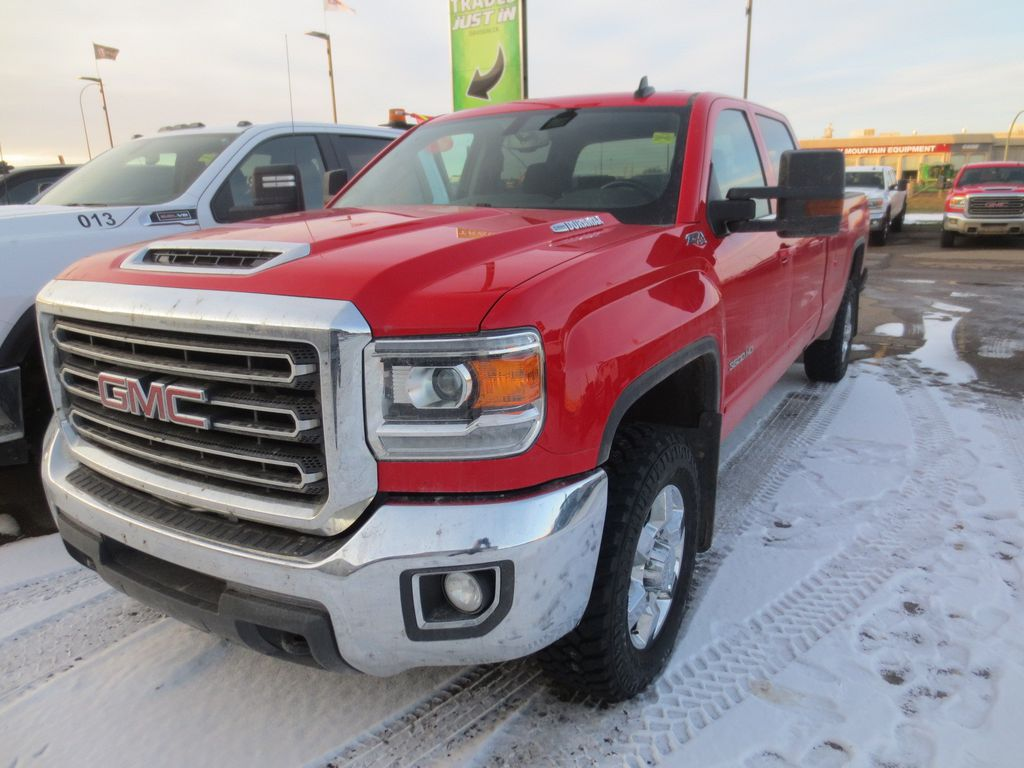 Red 2019 GMC Sierra 3500HD Left Front Corner Photo in Lethbridge AB