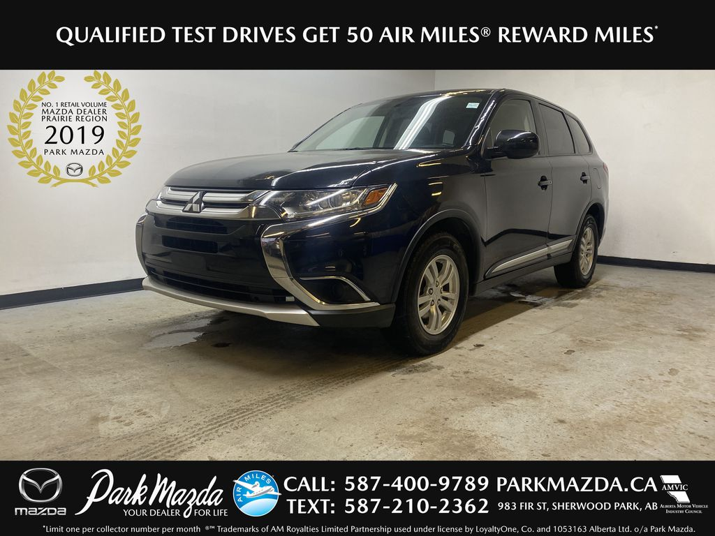 BLACK 2018 Mitsubishi Outlander ES - Bluetooth, Backup Cam, Heated Front Seats