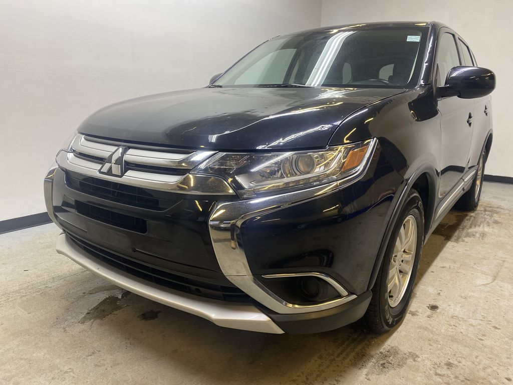 BLACK 2018 Mitsubishi Outlander ES - Bluetooth, Backup Cam, Heated Front Seats Left Front Head Light / Bumper and Grill in Edmonton AB