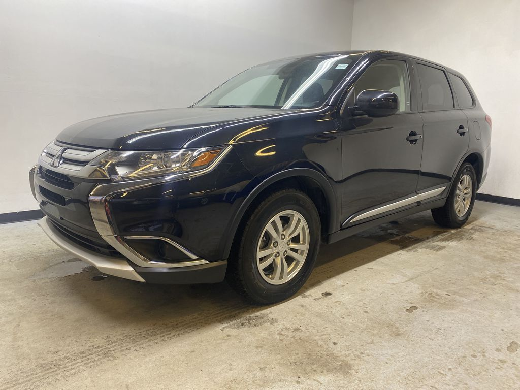 BLACK 2018 Mitsubishi Outlander ES - Bluetooth, Backup Cam, Heated Front Seats Left Front Corner Photo in Edmonton AB