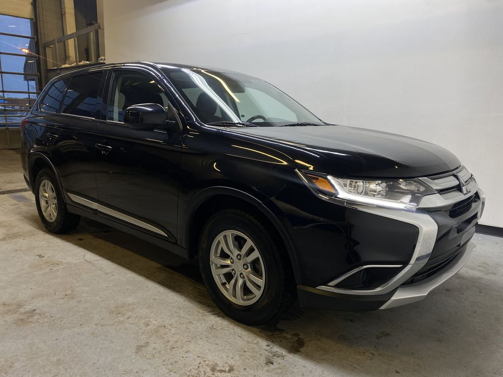 BLACK 2018 Mitsubishi Outlander ES - Bluetooth, Backup Cam, Heated Front Seats Right Front Corner Photo in Edmonton AB