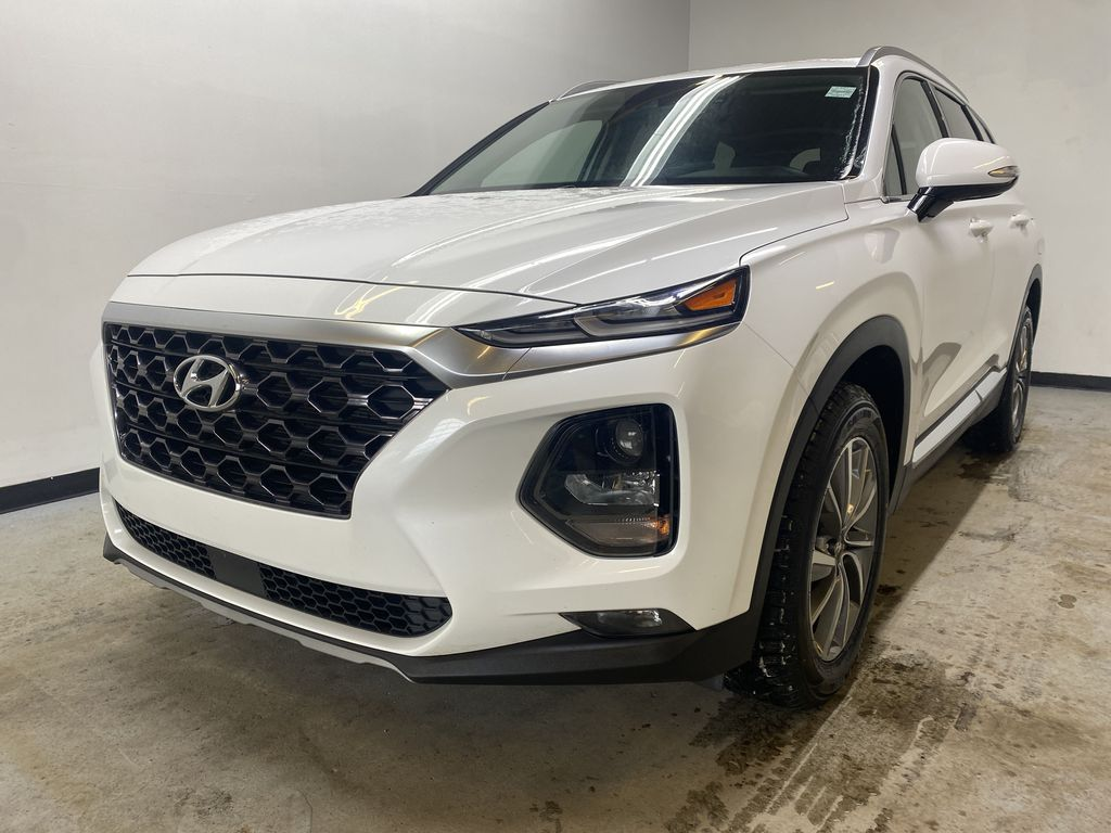 WHITE 2020 Hyundai Santa Fe Preferred AWD - Backup Camera, Blind Spot Monitoring, Apple CarPlay Left Front Head Light / Bumper and Grill in Edmonton AB
