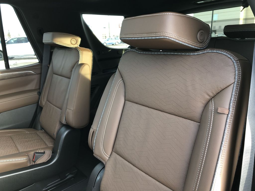 White[Iridescent Pearl Tricoat] 2021 Chevrolet Tahoe Left Side Rear Seat  Photo in Edmonton AB