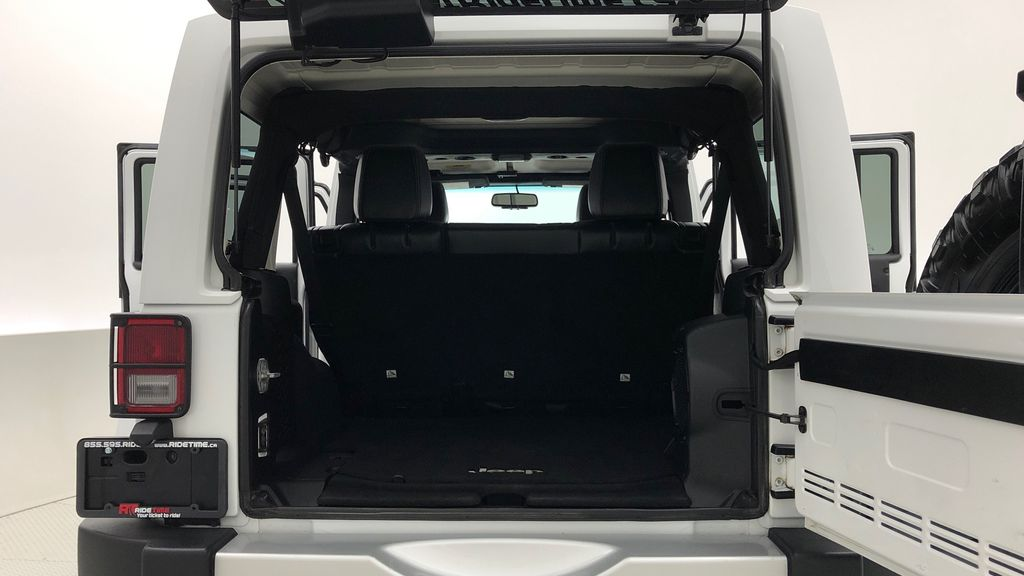 White[Bright White] Lifted 2013 Jeep Wrangler Unlimited Sahara - Leather, NAV, WARN Winch Trunk / Cargo Area Photo in Winnipeg MB