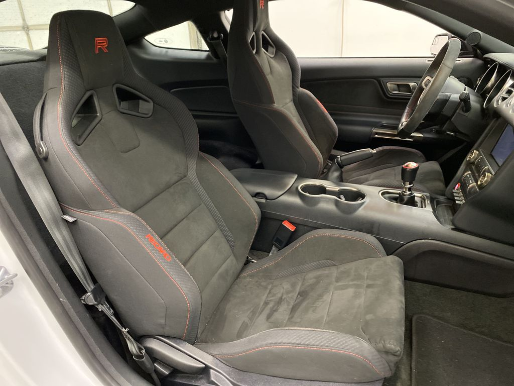 White[Oxford White] 2018 Ford Mustang Right Side Front Seat  Photo in Dartmouth NS