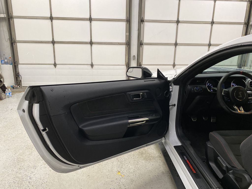 White[Oxford White] 2018 Ford Mustang Left Front Interior Door Panel Photo in Dartmouth NS