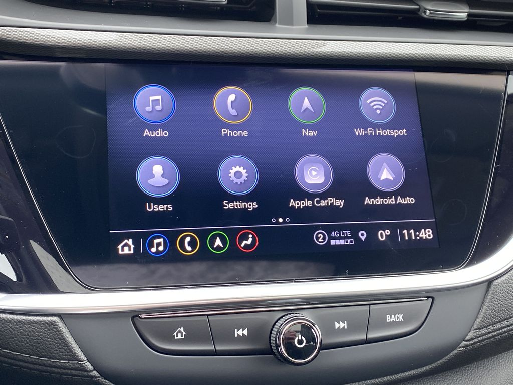 Red[Chili Red Metallic] 2021 Buick Encore GX Central Dash Options Photo in Edmonton AB