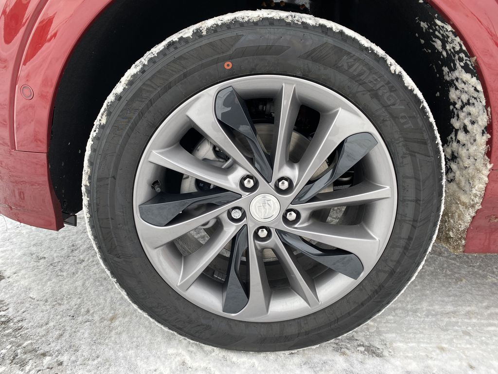 Red[Chili Red Metallic] 2021 Buick Encore GX Left Front Rim and Tire Photo in Edmonton AB