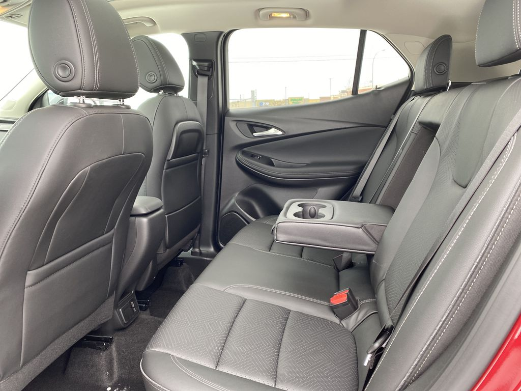 Red[Chili Red Metallic] 2021 Buick Encore GX Left Side Rear Seat  Photo in Edmonton AB