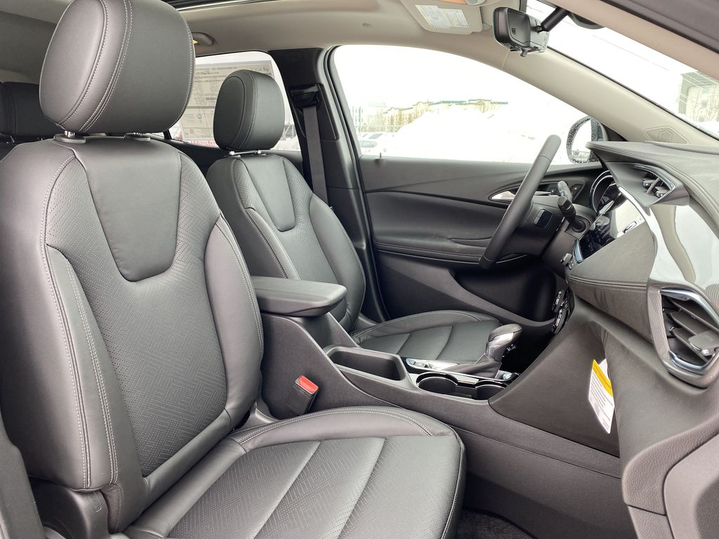Red[Chili Red Metallic] 2021 Buick Encore GX Right Side Front Seat  Photo in Edmonton AB