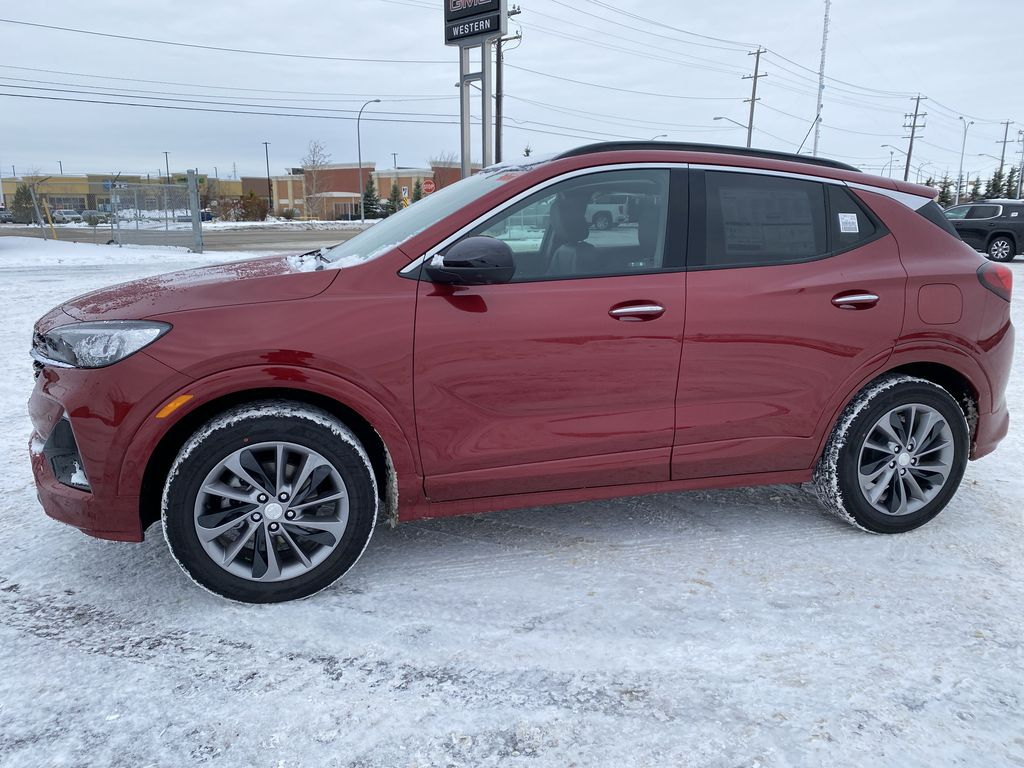 Red[Chili Red Metallic] 2021 Buick Encore GX Left Side Photo in Edmonton AB