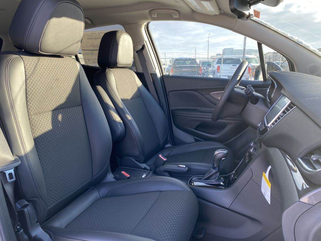 Blue[Dark Moon Blue Metallic] 2021 Buick Encore Right Side Front Seat  Photo in Edmonton AB