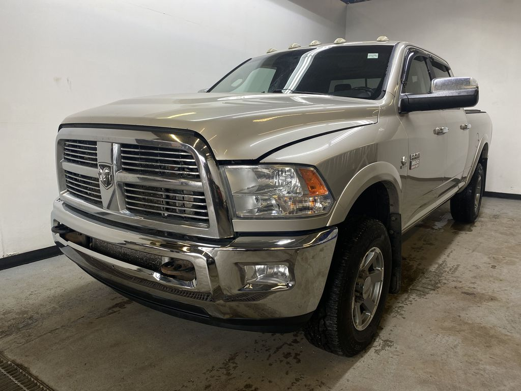 WHITE 2010 Dodge Ram 3500 Laramie - NAV, Backup Camera, Bluetooth Left Front Head Light / Bumper and Grill in Edmonton AB