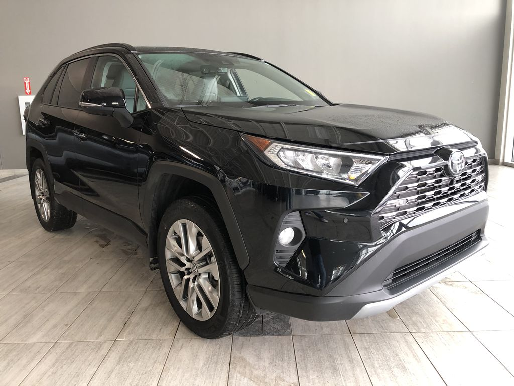 Black 2019 Toyota RAV4 Limited | Toyota Certified Left Front Interior Photo in Edmonton AB