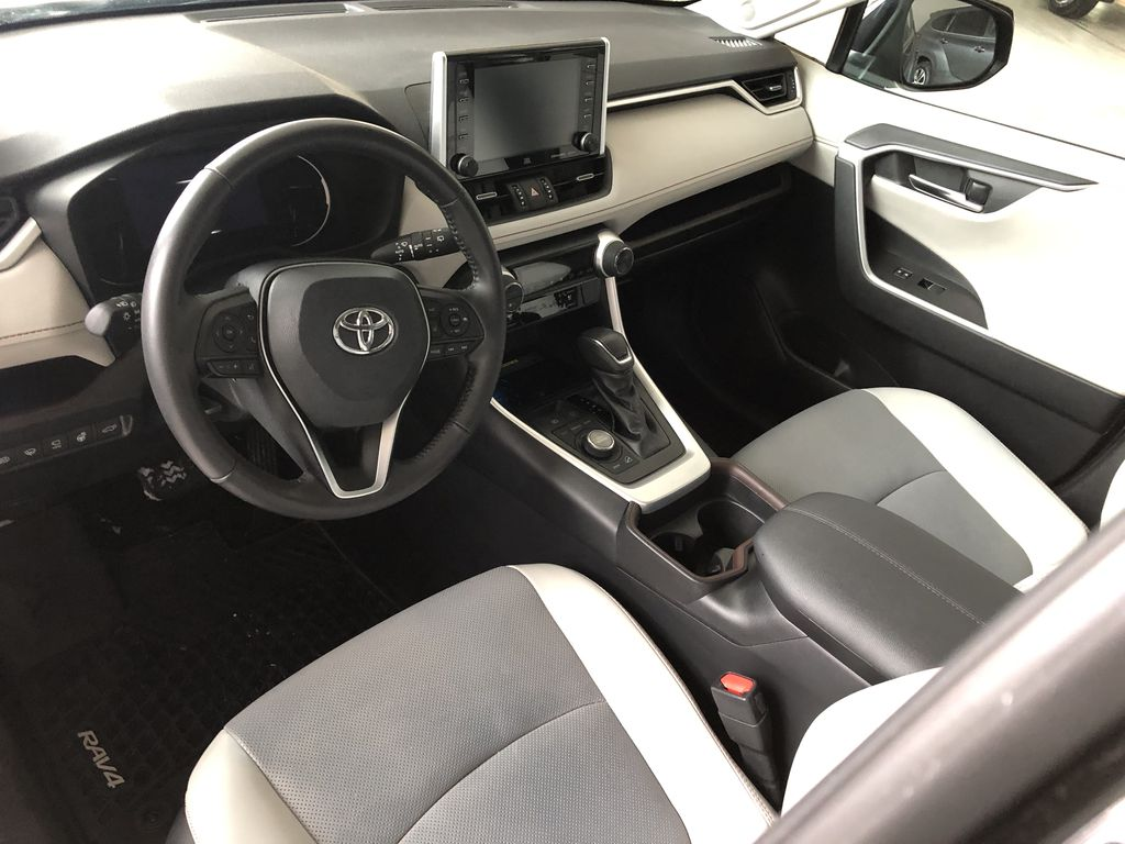 Black 2019 Toyota RAV4 Limited | Toyota Certified Steering Wheel/Instruments Photo in Edmonton AB