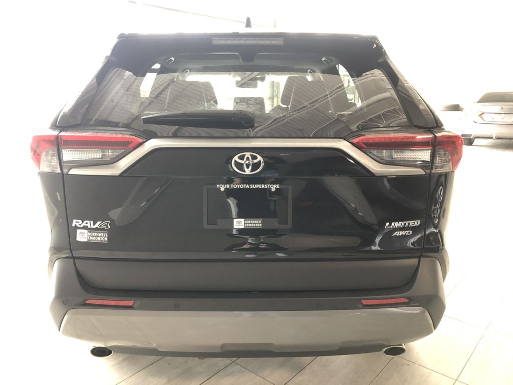 Black 2019 Toyota RAV4 Limited | Toyota Certified Trunk / Cargo Area Photo in Edmonton AB