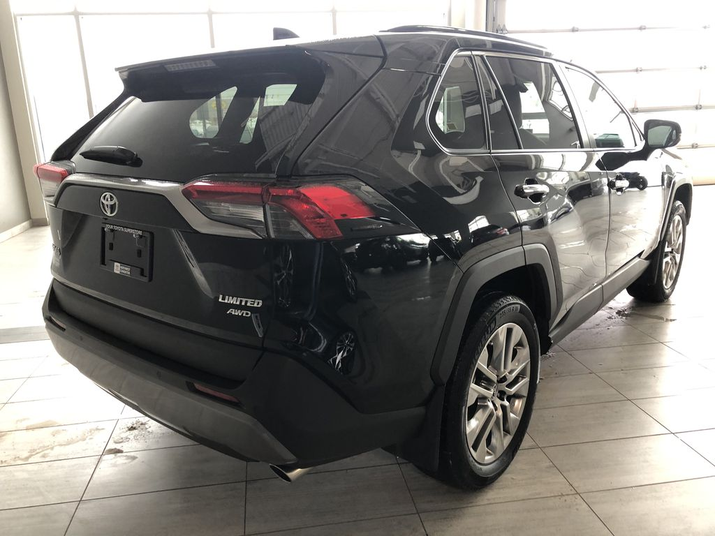 Black 2019 Toyota RAV4 Limited | Toyota Certified Rear of Vehicle Photo in Edmonton AB