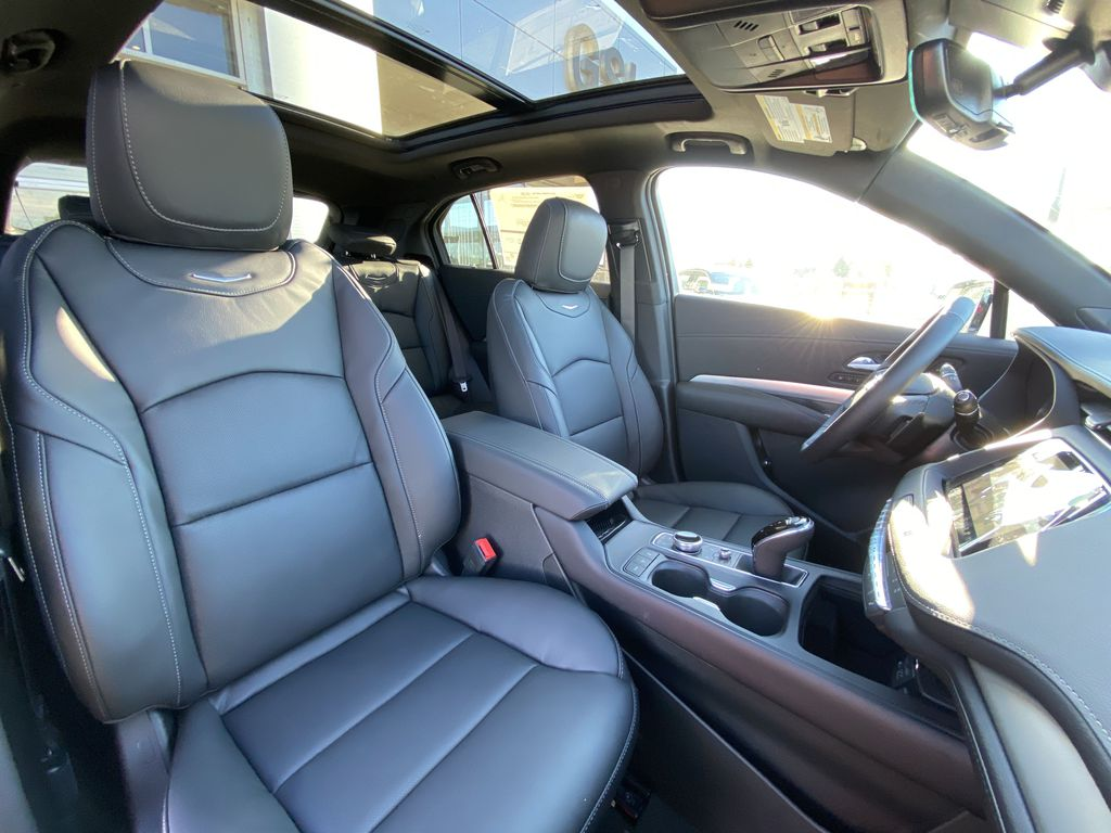 White[Crystal White Tricoat] 2021 Cadillac XT4 Premium Luxury Right Side Front Seat  Photo in Calgary AB