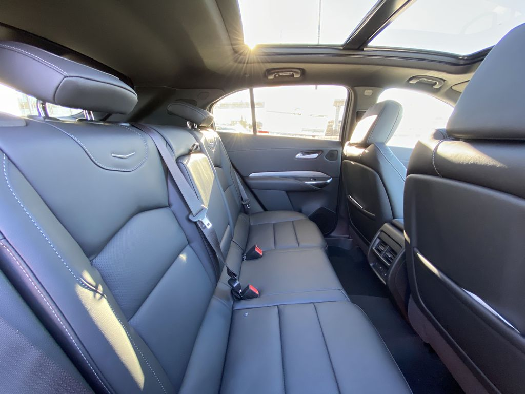 White[Crystal White Tricoat] 2021 Cadillac XT4 Premium Luxury Right Side Rear Seat  Photo in Calgary AB