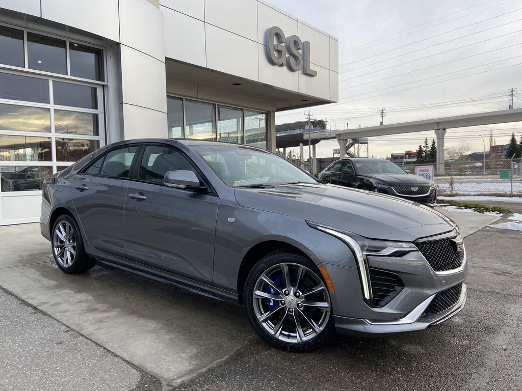 Gray[Satin Steel Metallic] 2021 Cadillac CT4 Sport