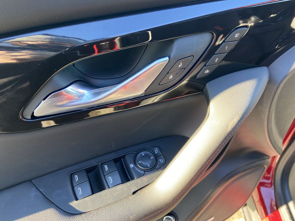 Red[Cherry Red Tintcoat] 2021 Chevrolet Blazer RS  Driver's Side Door Controls Photo in Calgary AB