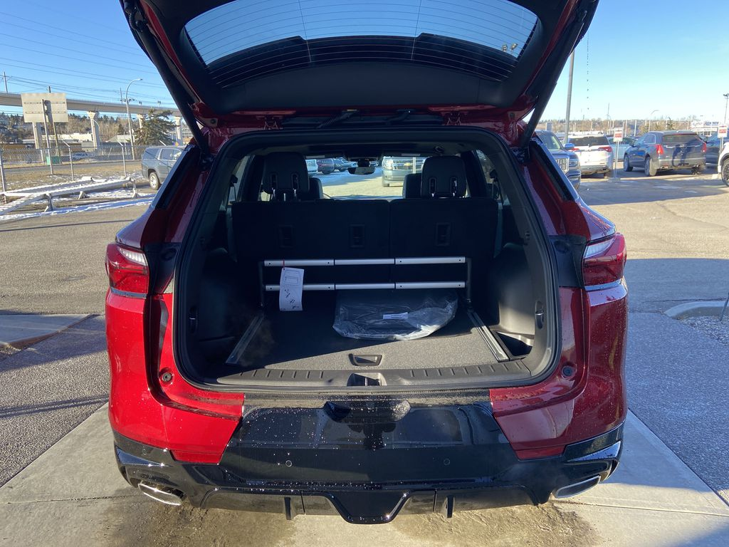 Red[Cherry Red Tintcoat] 2021 Chevrolet Blazer RS Trunk / Cargo Area Photo in Calgary AB