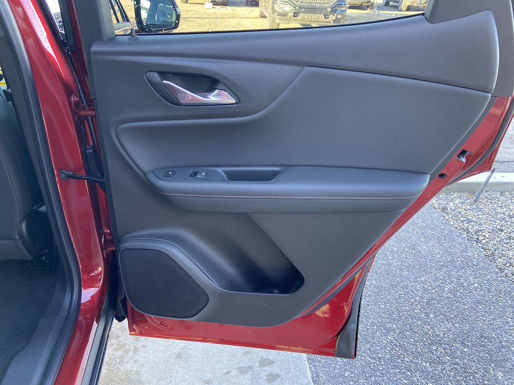 Red[Cherry Red Tintcoat] 2021 Chevrolet Blazer RS Right Rear Interior Door Panel Photo in Calgary AB