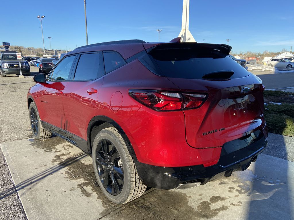 Red[Cherry Red Tintcoat] 2021 Chevrolet Blazer RS Left Rear Corner Photo in Calgary AB