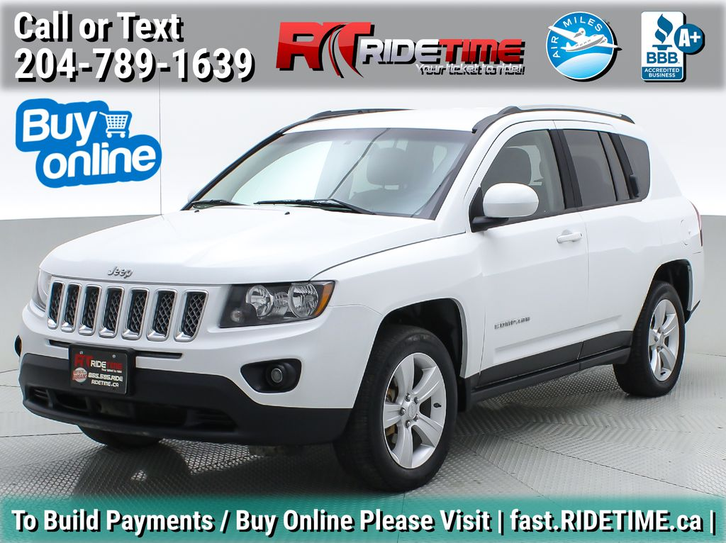 White[Bright White] 2015 Jeep Compass North 4WD - Automatic, Cruise Control, Alloy Wheels