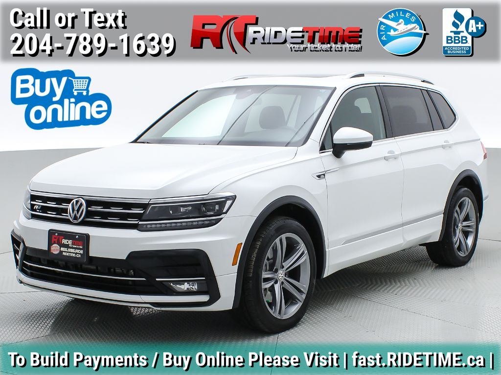 White[Pure White] 2019 Volkswagen Tiguan Highline AWD - Leather, Panoramic Roof