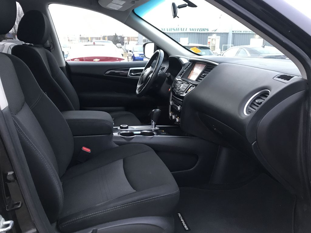 Black[Magnetic Black Metallic] 2017 Nissan Pathfinder 4WD 4dr SV *Heated Seats* *7-Pass* *Bluetooth* Right Side Front Seat  Photo in Brandon MB