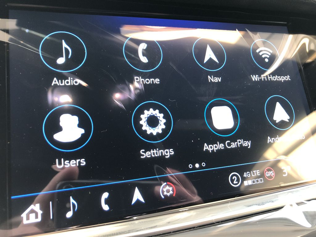 Black[Stellar Black Metallic] 2021 Cadillac XT5 Radio Controls Closeup Photo in Edmonton AB