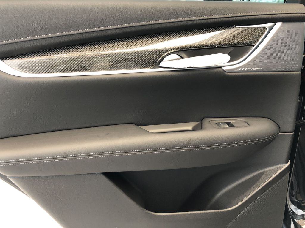 Black[Stellar Black Metallic] 2021 Cadillac XT5 Left Rear Interior Door Panel Photo in Edmonton AB