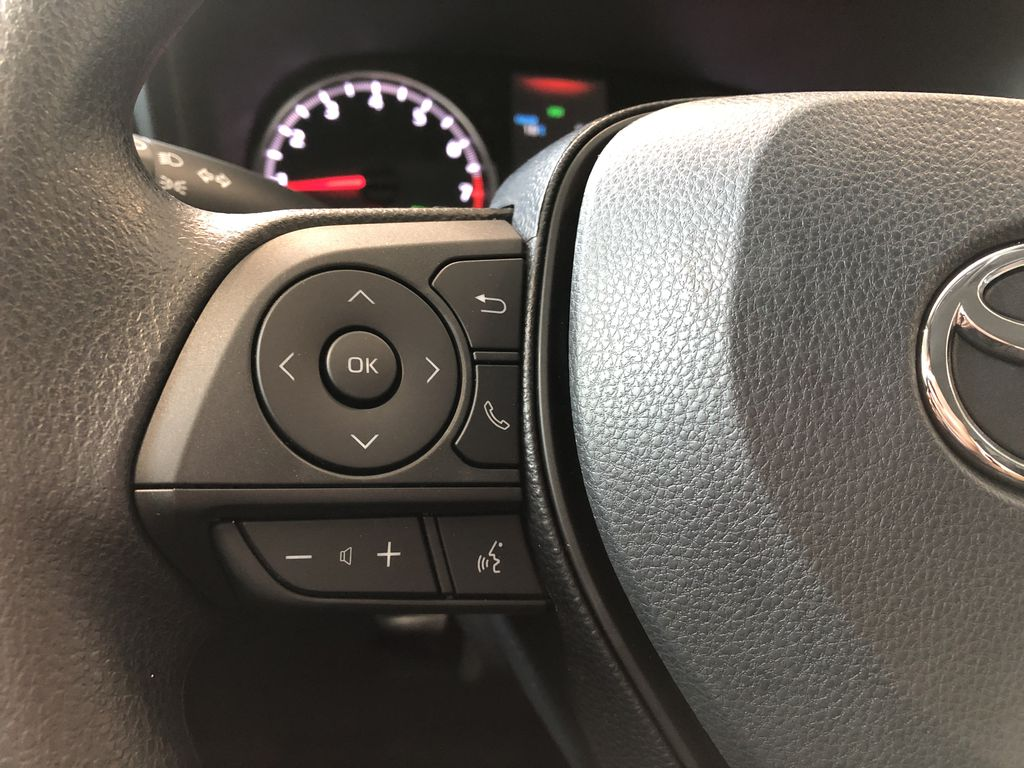 Super White 2021 Toyota RAV4 LE FWD Right Side Front Seat  Photo in Edmonton AB