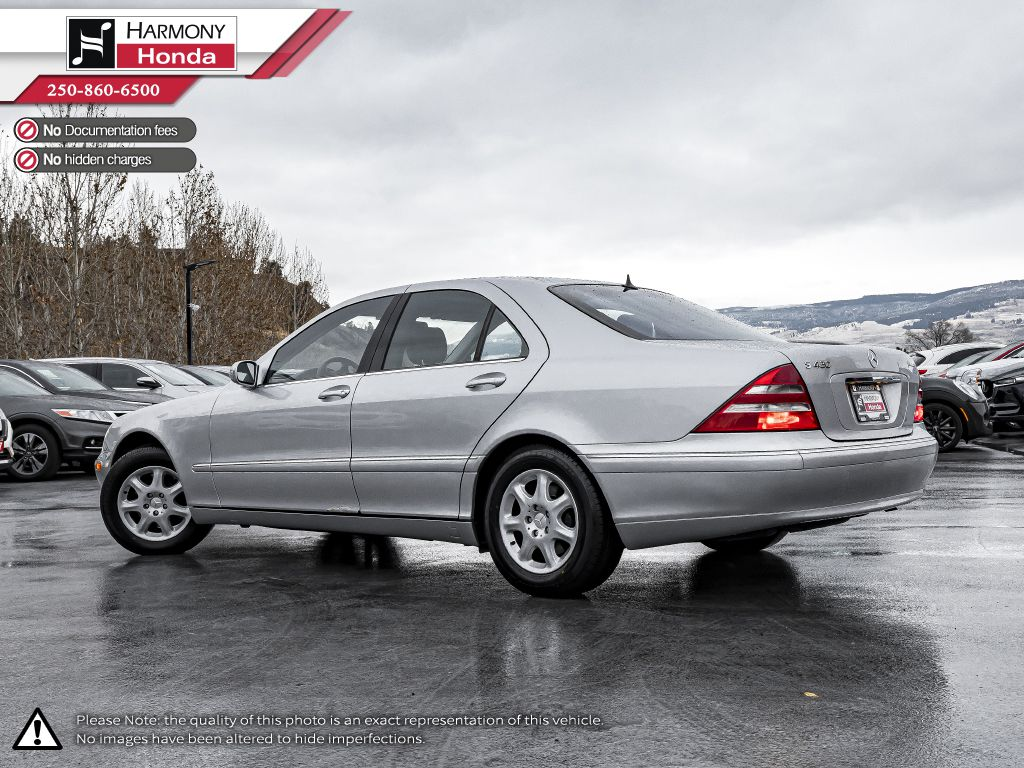 Silver 2001 Mercedes-Benz S-Class Left Side Rear Seat  Photo in Kelowna BC