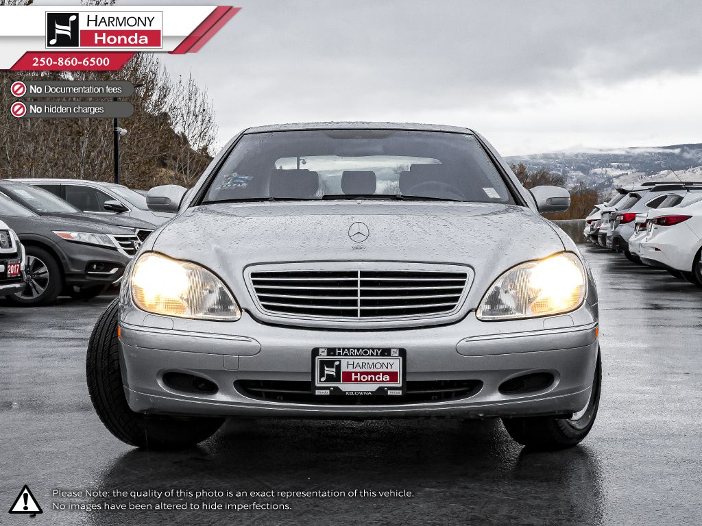 Silver 2001 Mercedes-Benz S-Class Left Front Interior Photo in Kelowna BC