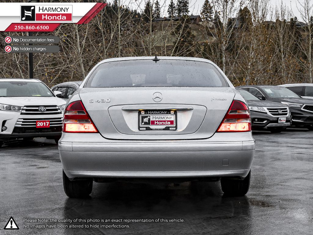 Silver 2001 Mercedes-Benz S-Class Left Side Photo in Kelowna BC