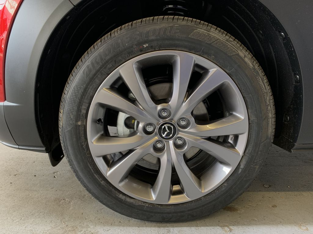 SOUL RED CRYSTAL METALLIC(46V) 2021 Mazda CX-30 GS AWD Left Front Rim and Tire Photo in Edmonton AB