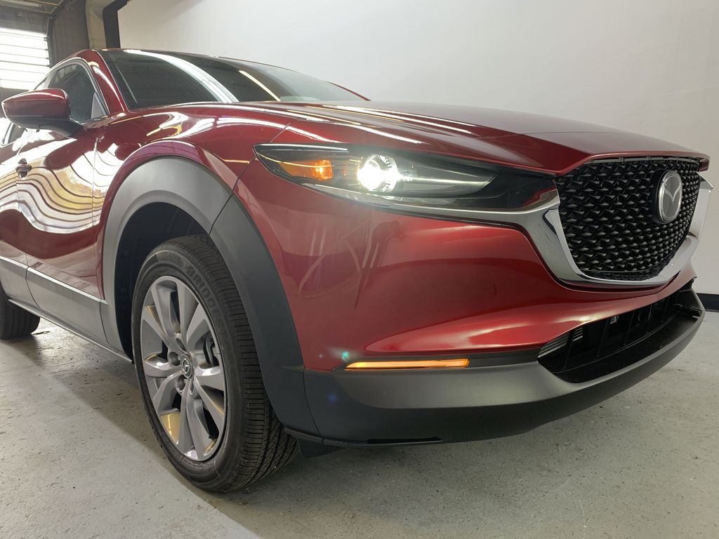 SOUL RED CRYSTAL METALLIC(46V) 2021 Mazda CX-30 GS AWD Right Front Corner Photo in Edmonton AB