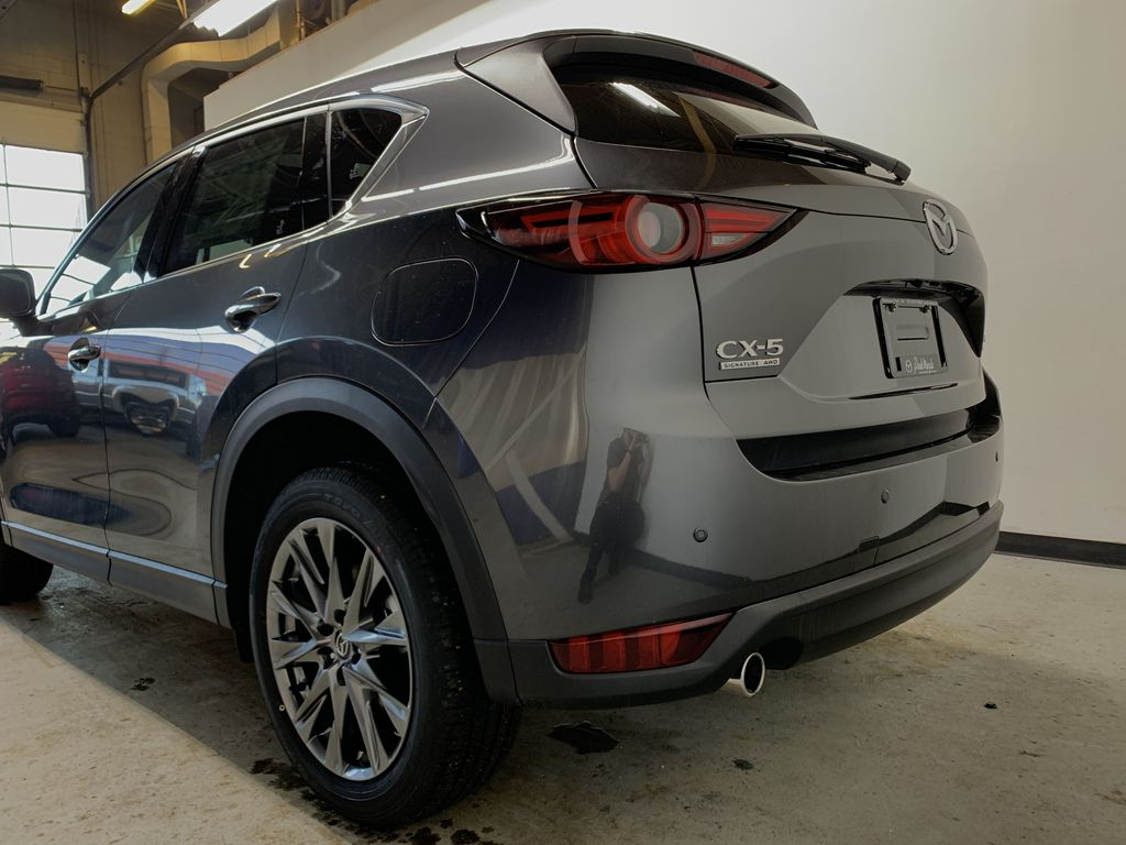 MACHINE GREY METALLIC(46G) 2021 Mazda CX-5 Signature AWD Left Rear Corner Photo in Edmonton AB
