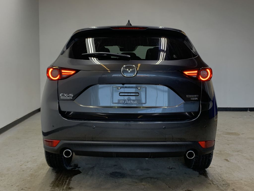 MACHINE GREY METALLIC(46G) 2021 Mazda CX-5 Signature AWD Rear of Vehicle Photo in Edmonton AB