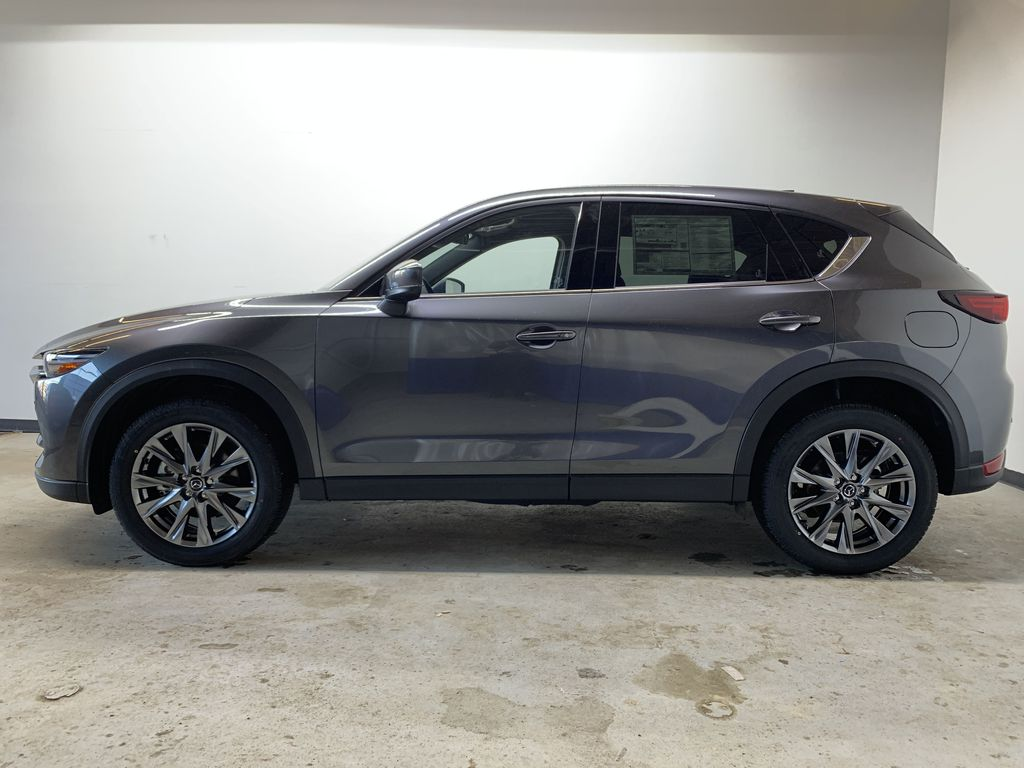 MACHINE GREY METALLIC(46G) 2021 Mazda CX-5 Signature AWD Left Side Photo in Edmonton AB