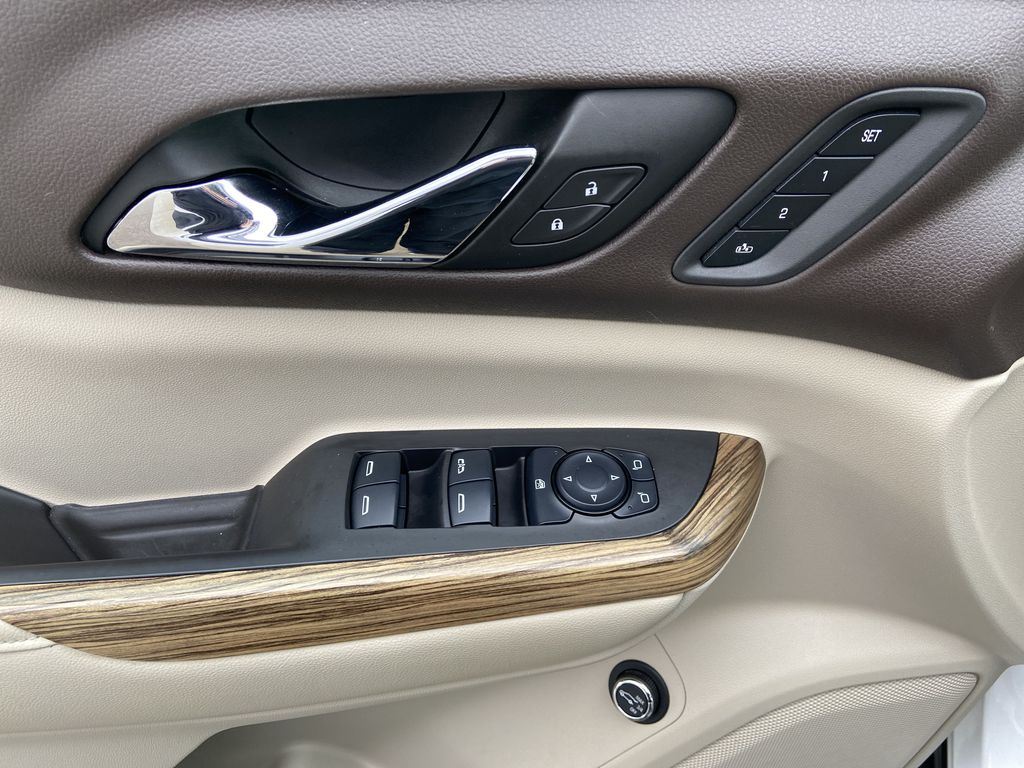 White[White Frost Tricoat] 2017 GMC Acadia Denali  Driver's Side Door Controls Photo in Calgary AB