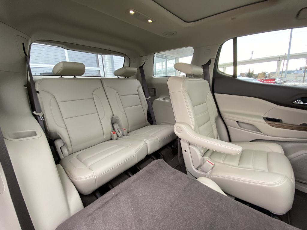 White[White Frost Tricoat] 2017 GMC Acadia Denali Right Side Rear Seat  Photo in Calgary AB