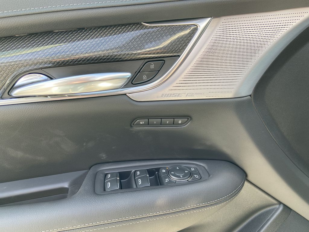 White[Crystal White Tricoat] 2021 Cadillac XT5 Premium Sport  Driver's Side Door Controls Photo in Calgary AB
