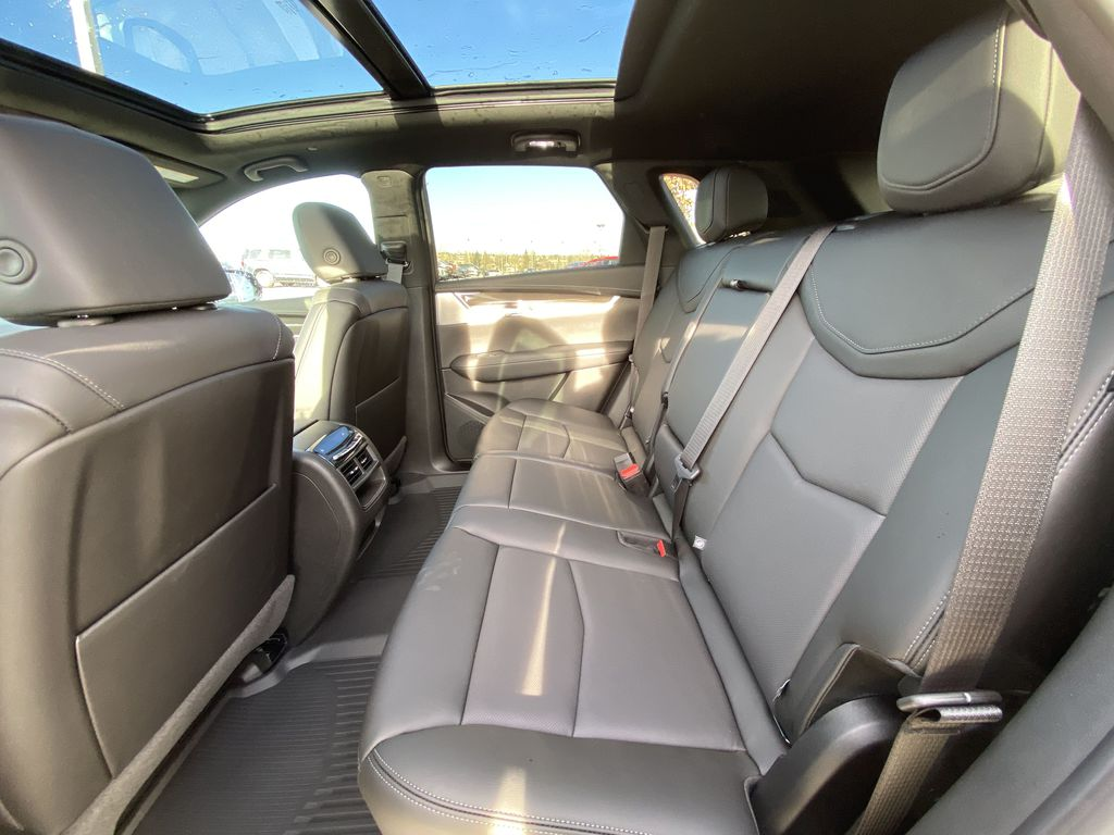 White[Crystal White Tricoat] 2021 Cadillac XT5 Premium Sport Left Side Rear Seat  Photo in Calgary AB