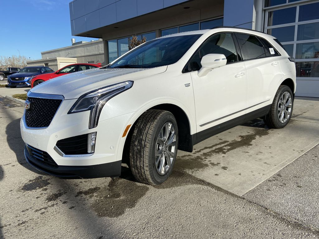 White[Crystal White Tricoat] 2021 Cadillac XT5 Premium Sport Left Front Head Light / Bumper and Grill in Calgary AB