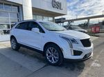 White[Crystal White Tricoat] 2021 Cadillac XT5 Premium Sport Right Front Corner Photo in Calgary AB