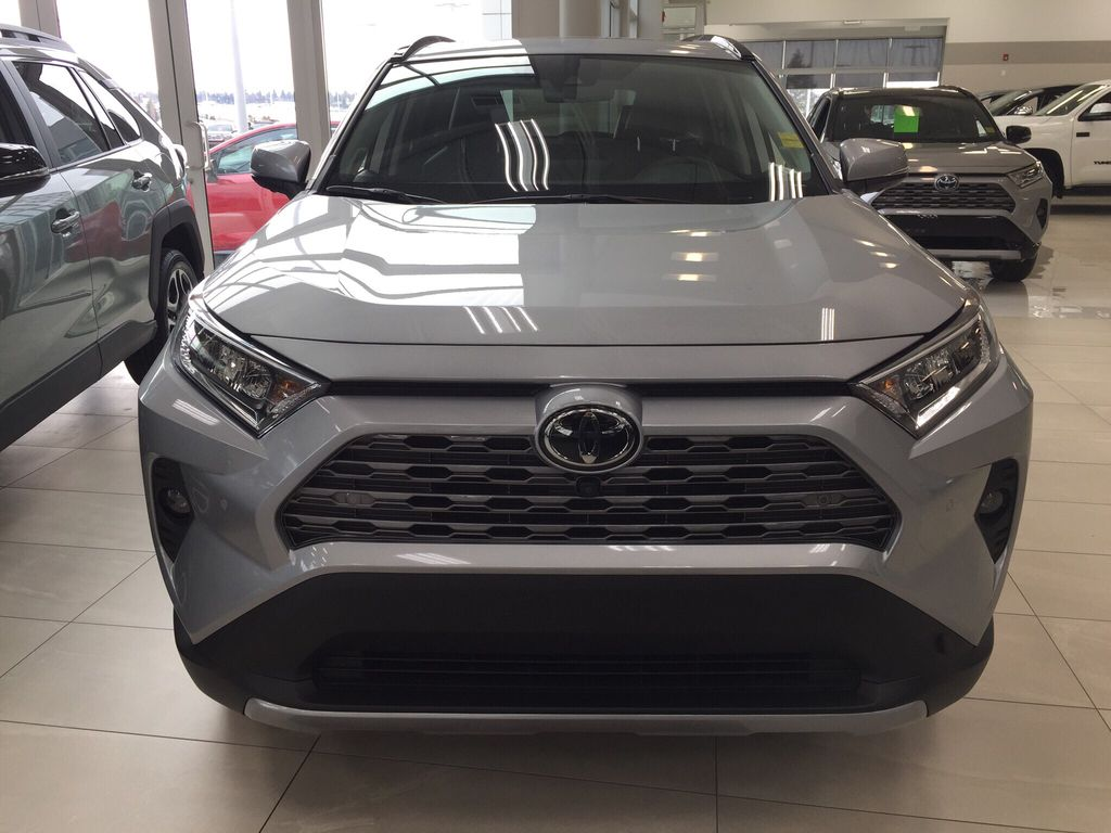 Silver[Silver Sky Metallic] 2021 Toyota RAV4 Limited Front Vehicle Photo in Sherwood Park AB